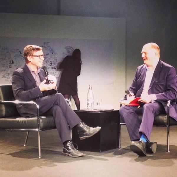 David Nicholls und Jörg Thadeusz