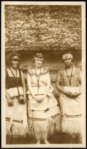 """Margaret Mead standing between two Samoan girls,"" ca. 1926, Library of Congress, Manuscript Division (50a) (accessed October 23, 2009)"