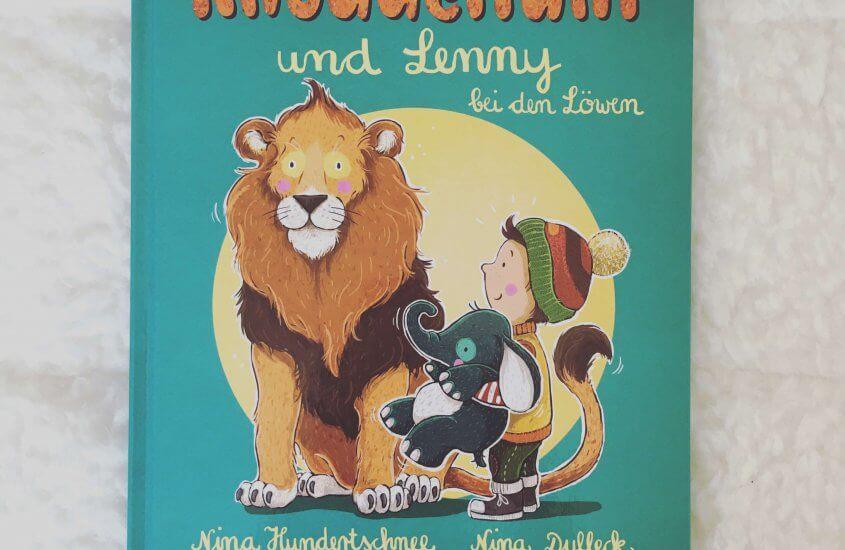Kinderherzpotenzial: Knuddelfant und Lenny bei den Löwen