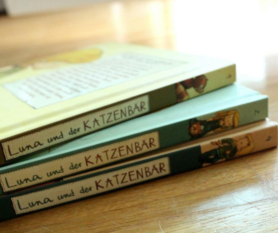 Buchrücken von drei Luna und der Katzenbär Büchern