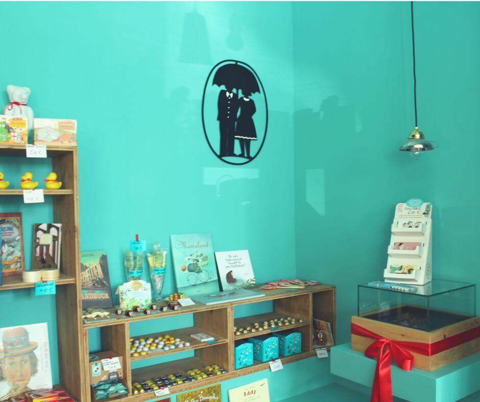 Innenansicht Chocolaterie und Buchhandlung