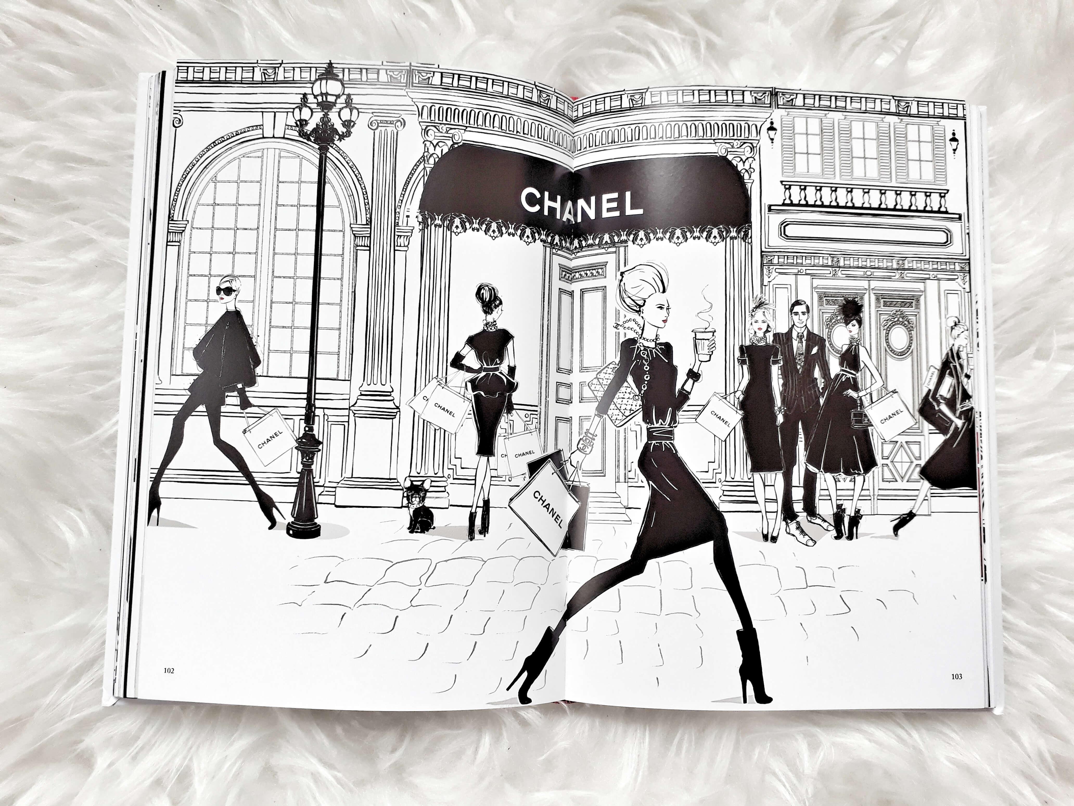 Szene vor Chanel Paris